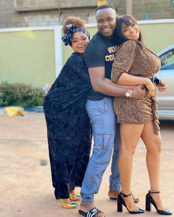 Funmi Awelewa And Femi Adebayo On Set IGBEYIN (2)