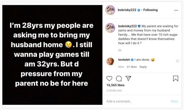 Bobrisky Parent Asking Him To Bring Husband Home (2)