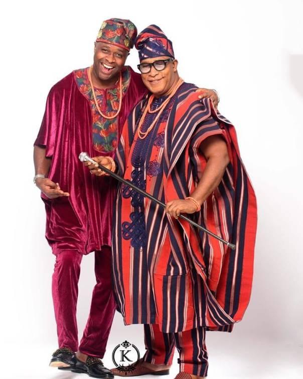 Femi Adebayo And Adebayo Salami Traditional Attires