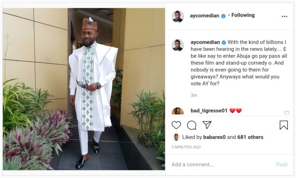 Comedian AY Abandon Film And Stand-Up For Abuja Politics (2)
