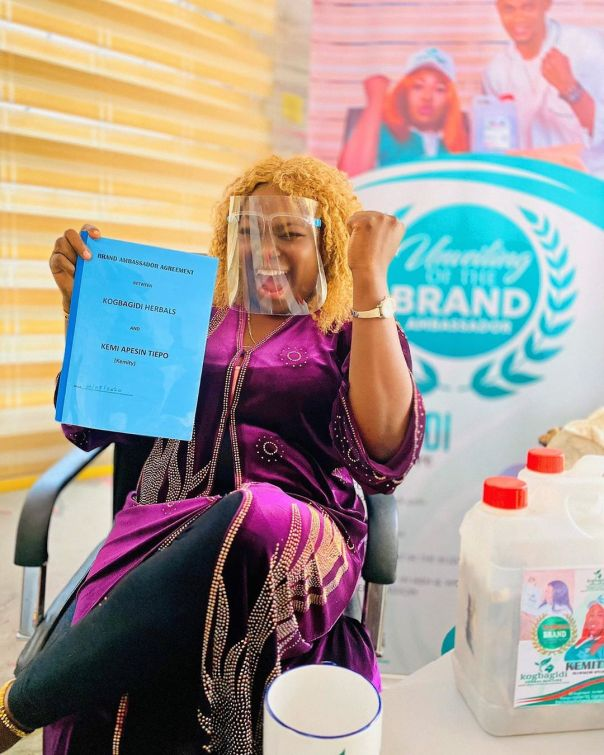 Kemi Apesin Kogbagidi Herbal Mixture Brand Ambassador (2) Amebo Book