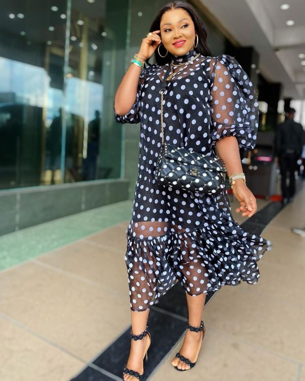 Mercy Aigbe Proud Wearing Her Own Label (2) Amebo Book