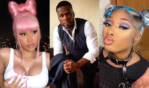 50 Cent Reaction WAP Album Cover Cardi B Megan Thee Stallion Amebo Book