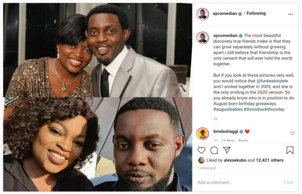 Comedian AY Positions Funke Akindele Into August Born Giveaways