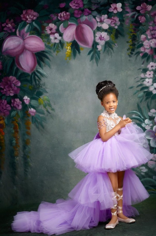 Flavour And Anna Ebiere Banner Daughter 5th Birthday (2)