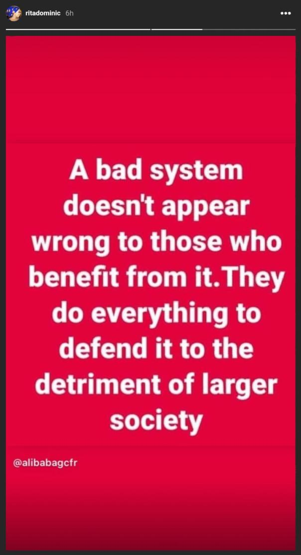 Rita Dominic Bad System Those Who Benefit From It (2) Amebo Book