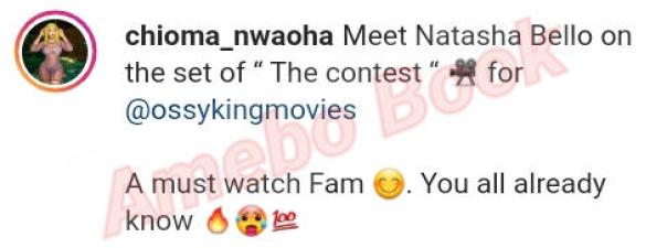 Chioma Nwaoha The Contest On Set (6)Amebo Book