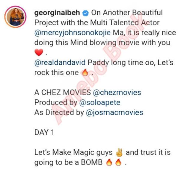 Nice Doing This Mind Blowing Movie With You Georgina Ibeh (2)