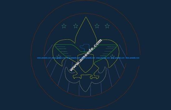 Boy Scouts dxf file