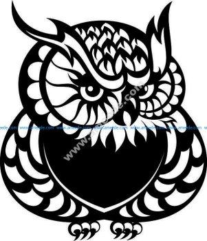 cat-owl pattern