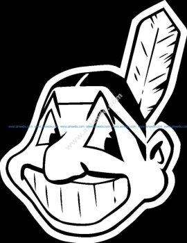 Cleveland Indians logo dxf file