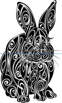 rabbit flower pattern