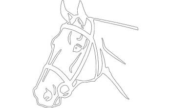 Horse Head Detailed Silhouette