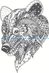 pattern bear head