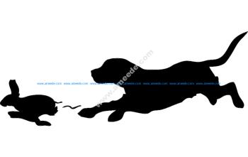 Beagle Rabbit Outline