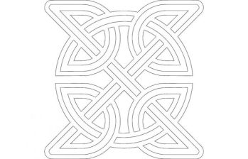Celtic Knot Round Inside Square