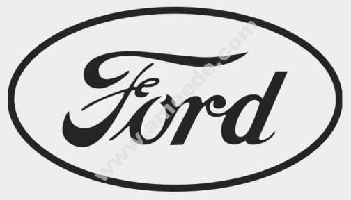 Ford logo dxf file