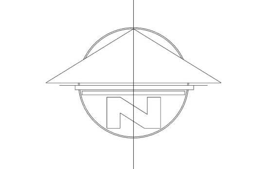 North Arrow Symbol Flat
