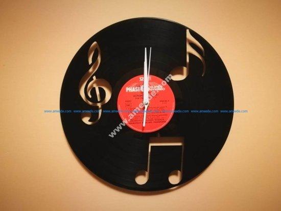 Orologio Vinile Note Musica