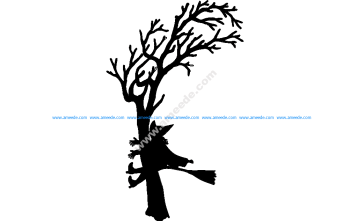 Witch Crash Silhouette