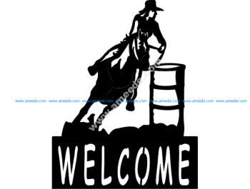 Barrel Racer welcome signBarrel Racer welcome sign