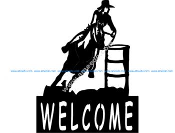 Barrel Racer welcome signBarrel Racer welcome sign