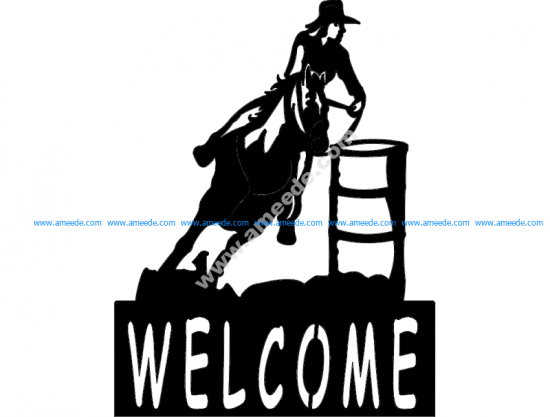 Barrel Racer welcome sign