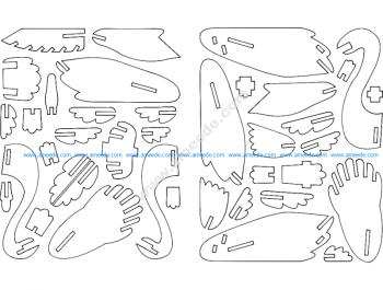 Cisne 3D Puzzle