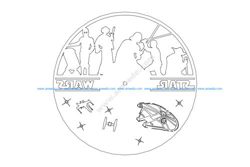 Clock On A Record – Star Wars
