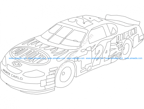 Dupont Chevy 24 Lineart