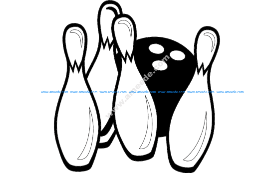Bowling Pins and Ball Game