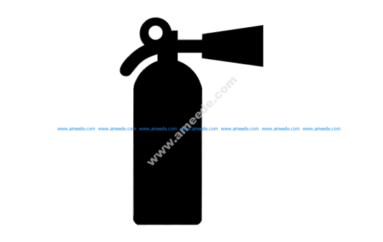Fire Extinguisher Silhouette