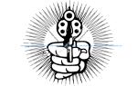 Hand With Pistol Cartoon