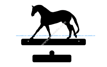 Horse With Plate