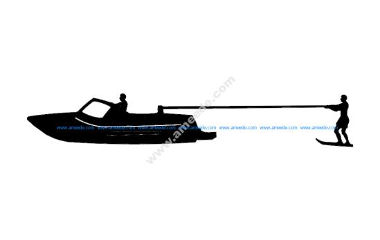 Kneeboard Fixed Skier Boat
