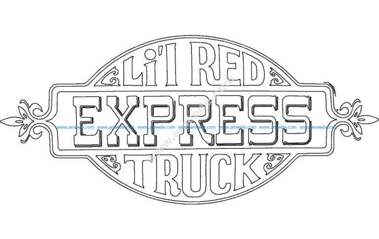 Lil Red Express Truck Decal