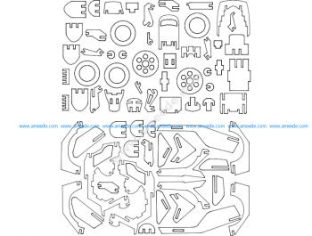 Motoneta 3D Puzzle