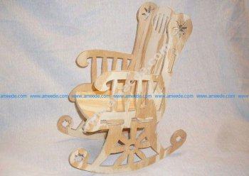 Rocking Chair Cnc Project 1-16 Inch Bit