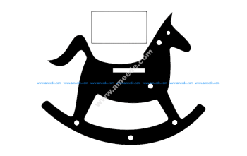 Rocking Horse Silhouette Toy