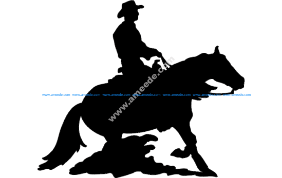 Rodeo Silhouette Cowboy