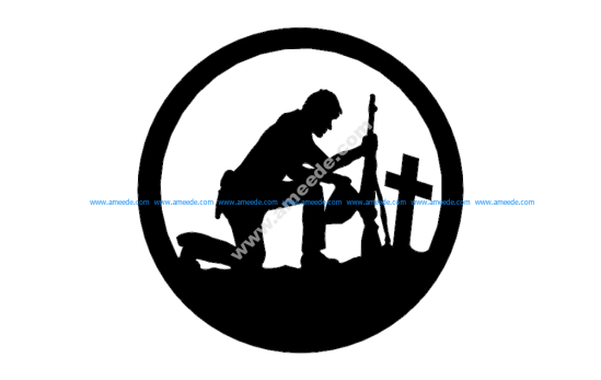 Soldier With Cross In A Circle