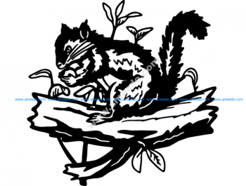 Squirrel and plants