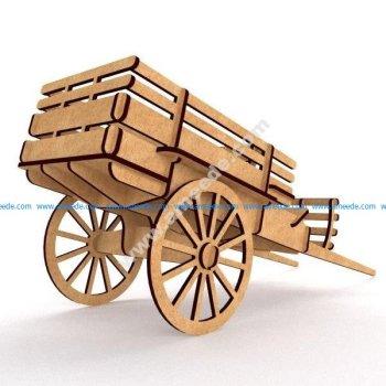 Telezhka Iz Fanery (Cart 3D Puzzle)