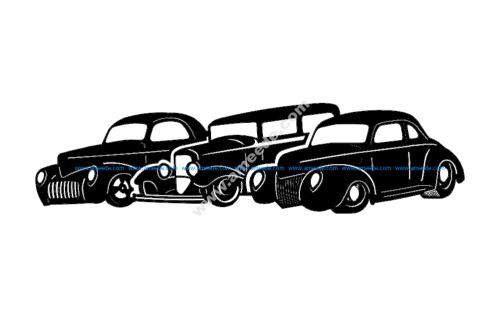 Three Old Cars