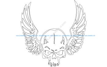 Wing Skull