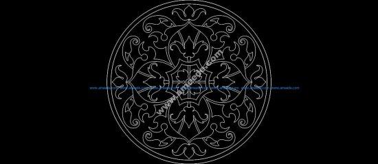Floral Round Design