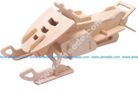 Snowmobile Model Flat