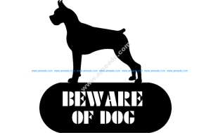 Boxer Beware Of Dog