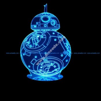 3D Hologram BB8 Robot LED Lamp