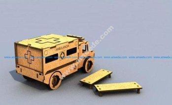 3d Puzzle Ambulance